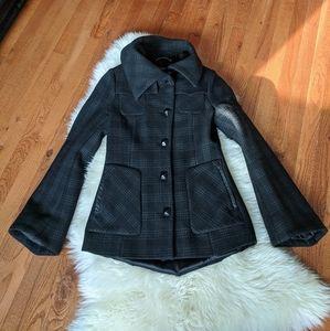 Mackage wool coat jacket plaid